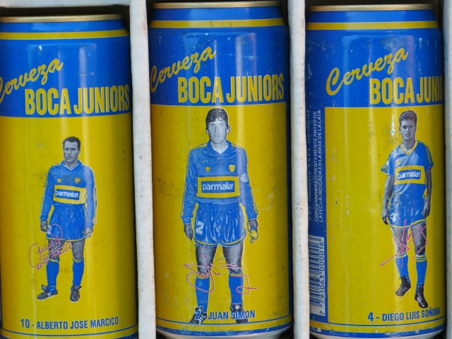 Antique Boca Juniors Beer Cans